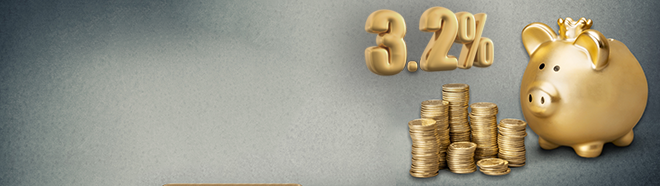 Now you can get a loan for just 3.2% - the cheapest-EVER