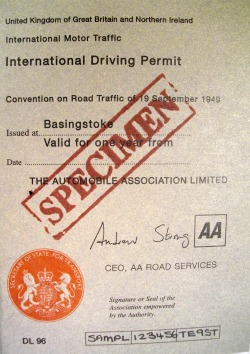 Uk Driving License Car Hire Usa