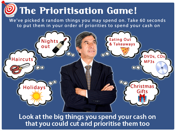 The prioritisation game
