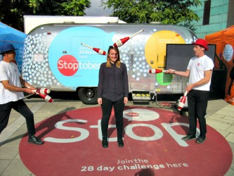 Here I am getting involved in the Stoptober action