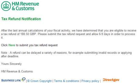 Beware the fake 39 hmrc tax rebate 39 email - Hm revenue and customs office address ...