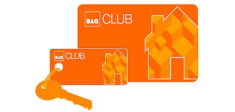 B&Q Club membership card