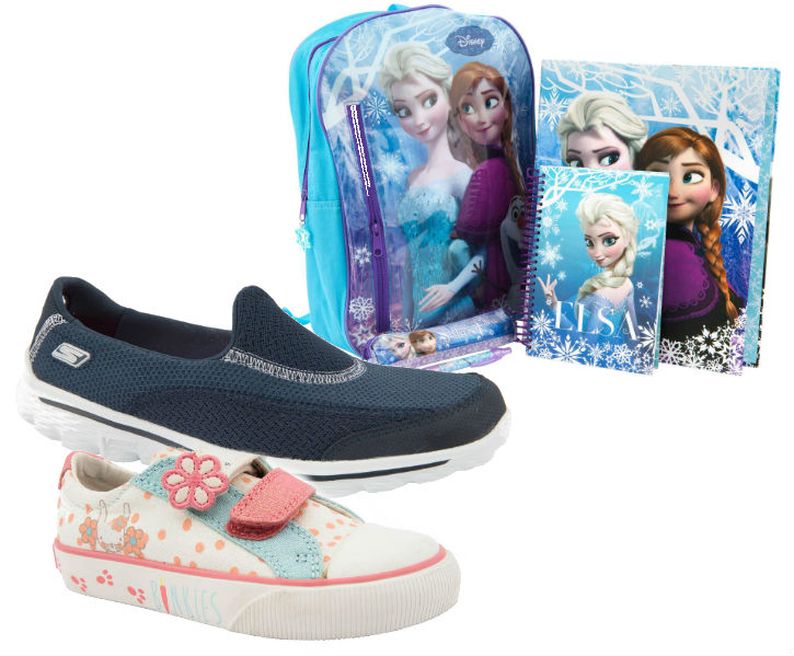 Brantano products - Frozen backpack, Sketchers & Clarks shoes