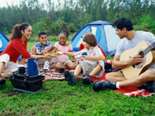 Camping can cut accommodation costs