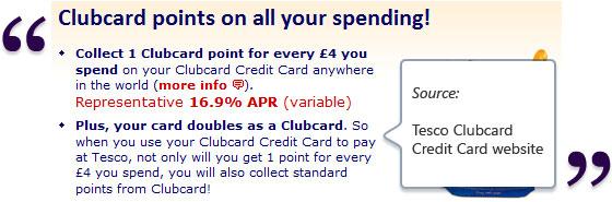 Tesco Clubcard Rewards