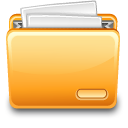 A folder with a file