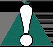 Green warning sign