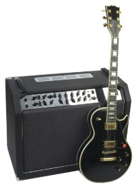 picture of guitar with amp