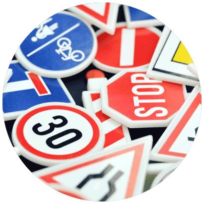 Check road signs