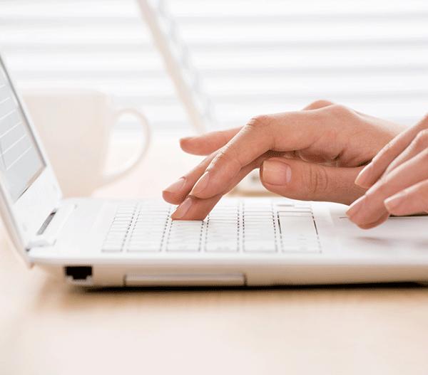 Image, laptop typing