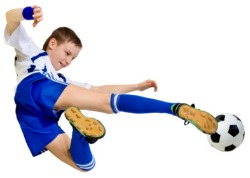 picture of boy playing football