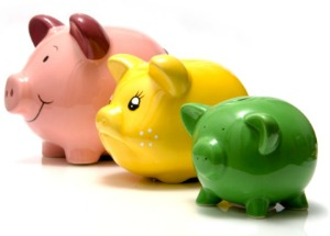 picture of piggy bank family