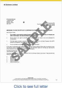 Warning don 39 t throw sentinel redress letters money for Claim ppi yourself template