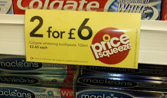 Wilkinsons colgate toothpaste �2.60 each or 2 for �6