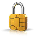 Sim card padlock