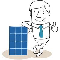 solar panel man