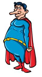 unfit superhero