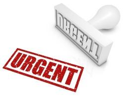 Urgent delivery stamp