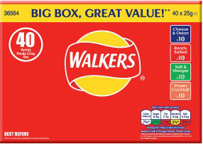 Walkers crisps variety box